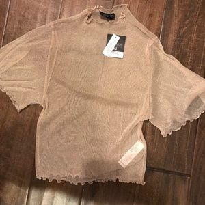 topshop mesh shirt